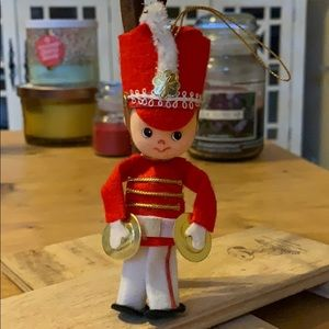 "5"" marching band soldier w cymbals Vtg ornament"